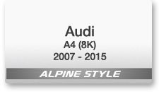 Alpine Style for Audi A4 (8K) 2007-2015