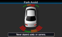 Alpine VW Interface retains visual representation of optical parking sensors