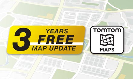 TomTom Maps with 3 Years Free-of-charge updates - X702D-A4