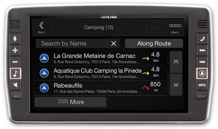 Mercedes Vito - Navigation - Importable camper POI databases - X902D-V447